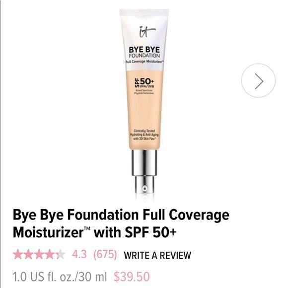 It Cosmetics Bye Bye Foundation (Medium Tan)